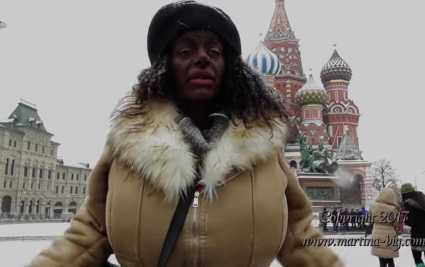 Мартина Блонд (Мартина Биг) в Москве. Фото Скриншот Youtube