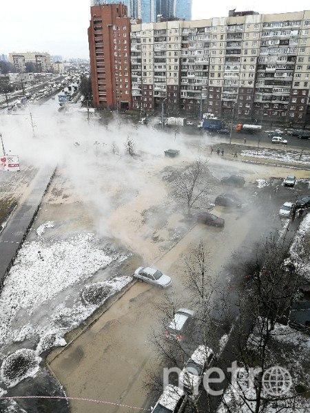 Прорыв трубы в Рыбацком. Фото vk.com