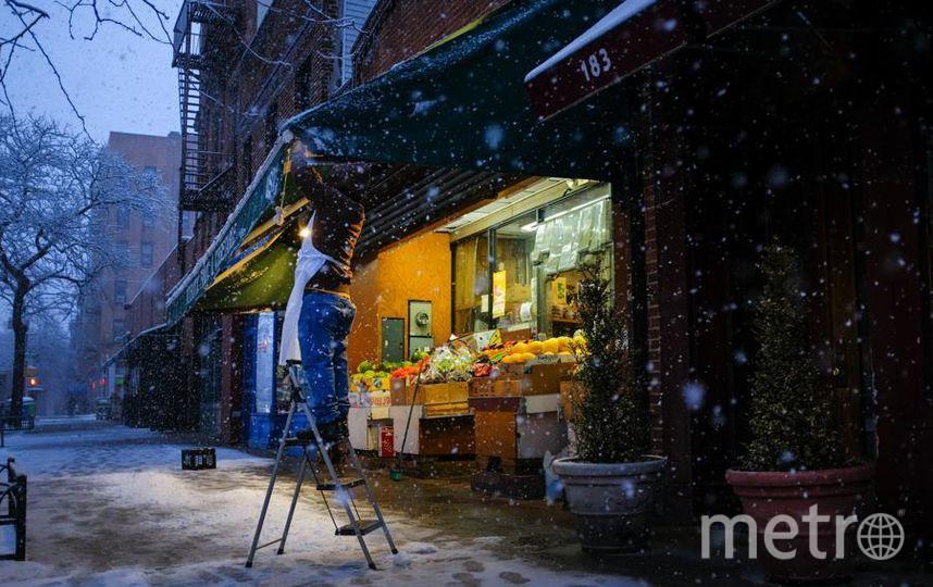 В Сети появились фото снежного Нью-Йорка в разгар весны. Фото Getty