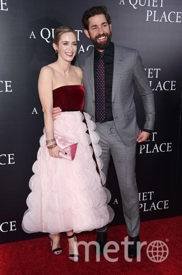 "На премьере ""Тихого места"". Эмили Блант и Джон Красинки. Фото Getty"