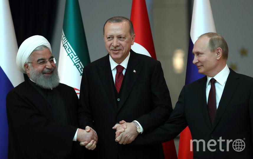 В Анкаре проходит саммит лидеров Турции, России и Ирана. Фото AFP