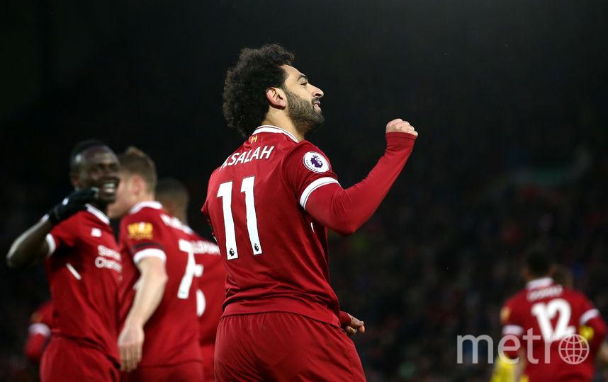 """Нападающий """"Ливерпуля"""" Салах отметился голом и результативной передачей. Фото Getty"""