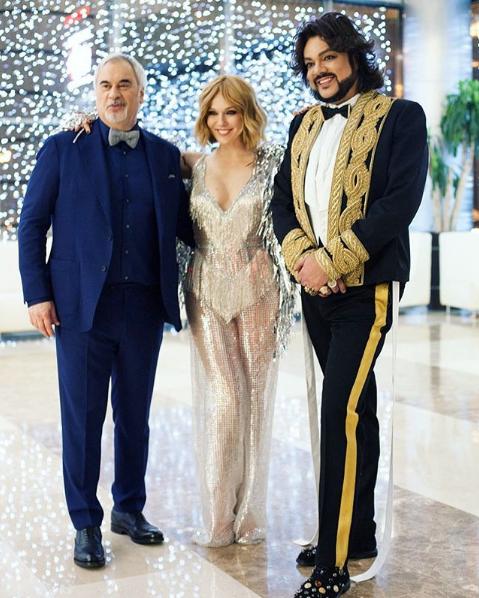 Валерий Меладзе, Альбина Джанабаева и Филипп Киркоров. Фото Скриншот Instagram: albinadzhanabaeva