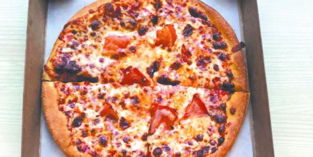 """Пицца """"Маргарита"""" в Pizza Hut."""