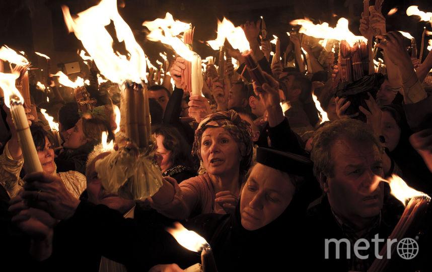 В Иерусалиме сошел Благодатный огонь. Фото Getty