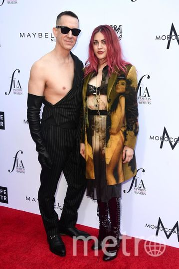 Fashion Los Angeles Awards. Джереми Скотт и Фрэнсис Кобейн (Единственная дочь рок-музыкантов Курта Кобейна и Кортни Лав). Фото Getty
