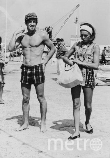 Жан-Поль Бельмондо с женой Элоди. 1965 год. Фото Getty