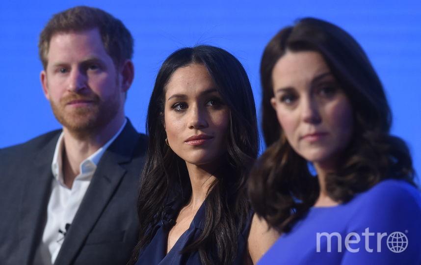 Принц Гарри, Меган Маркл и Кейт Миддлтон. Фото Getty
