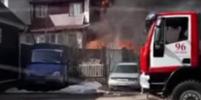 Коттедж музыканта Uma2rmaH сгорел в Подмосковье. Видео
