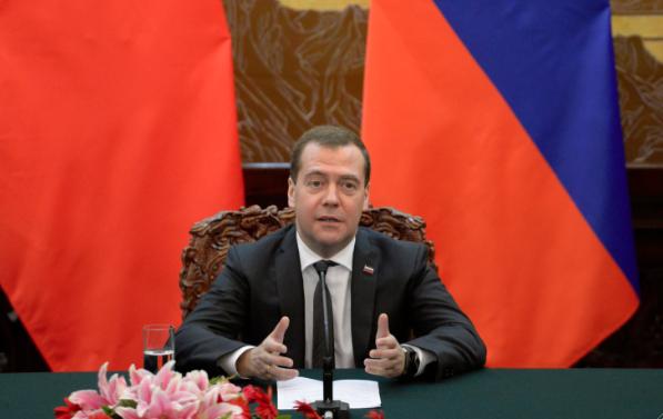 Глава правительства России Дмитрий Медведев. Фото Getty