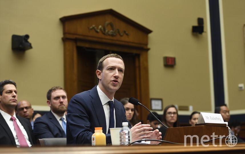 Марк Цукерберг выступил в Сенате США. Фото AFP