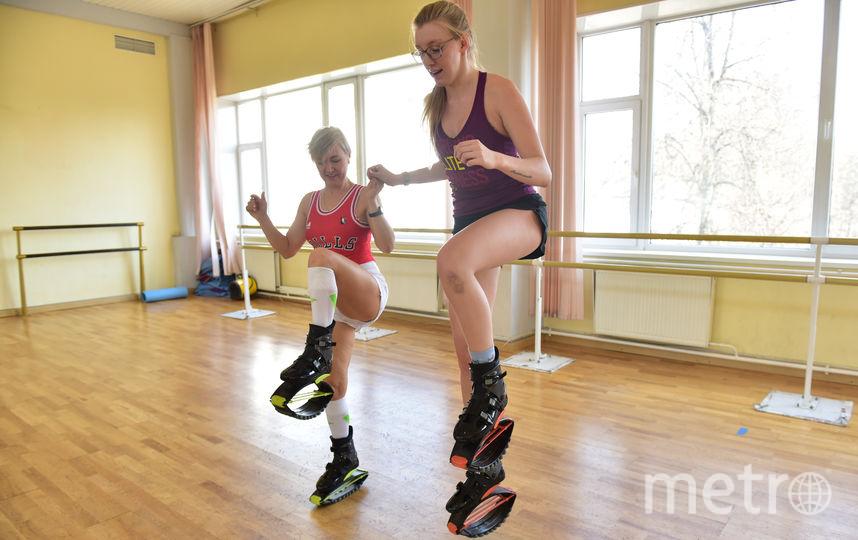 "1000 калорий сжигается за час занятий в классе Kangoo Jumps. Фото Василий Кузьмичёнок, ""Metro"""
