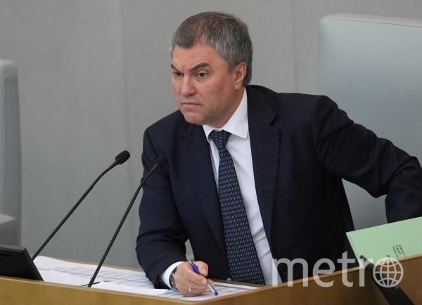 Вячеслав Володин. Фото РИА Новости