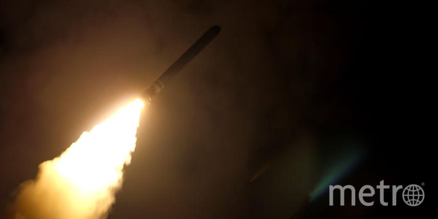 """Запуск """"Томагавка"""" с ракетного крейсера USS Monterey. Фото AFP"""