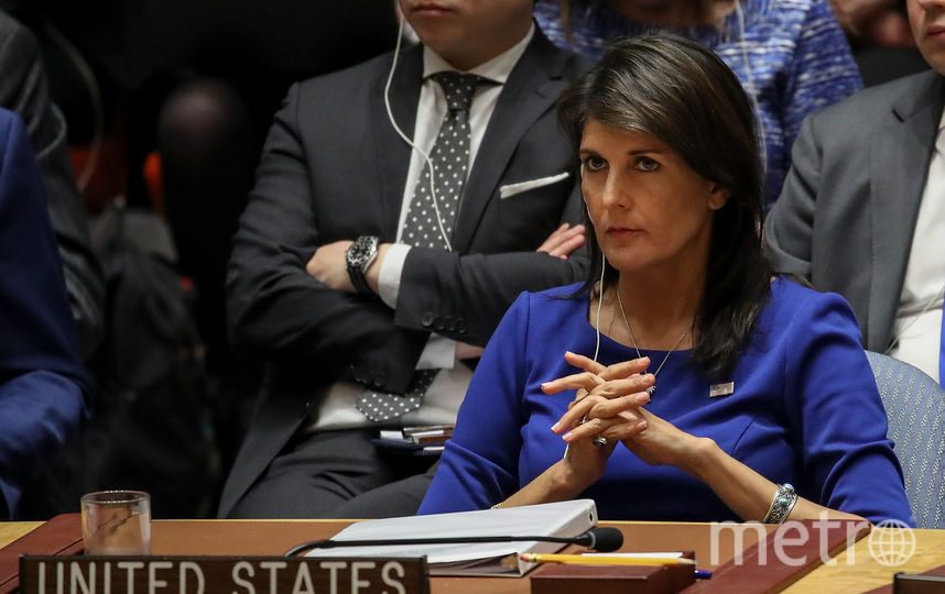 Никки Хейли, постоянный представитель США при ООН. Фото AFP