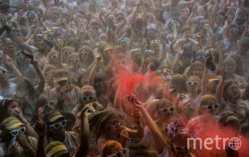 """Цветной марафон проводится с 2011 года под слоганом """"Самые счастливые 5 километров на планете"""". Фото AFP"""