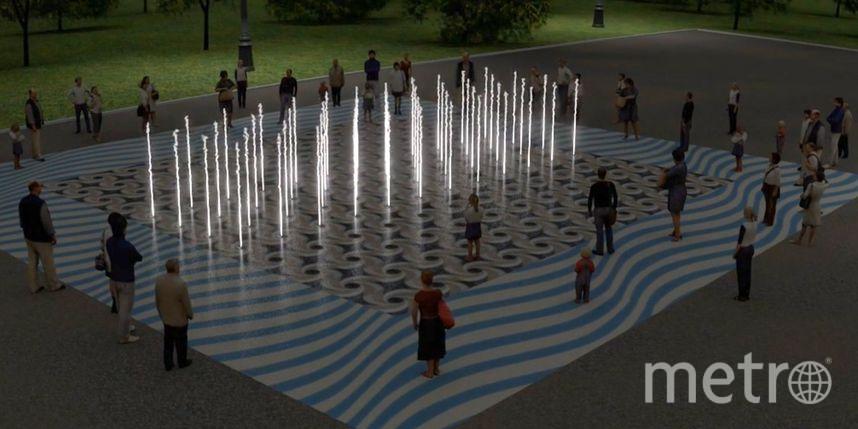 Днём фонтан будет работать в танцующем режиме, а с наступлением сумерек водные па будут сопровождаться красочным световым шоу. Фото mos.ru