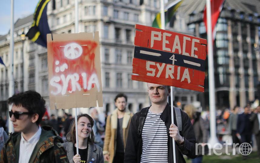 14 апреля США, Франция и Великобритания выпустили 103 ракеты по сирийским правительственным объектам. Фото AFP