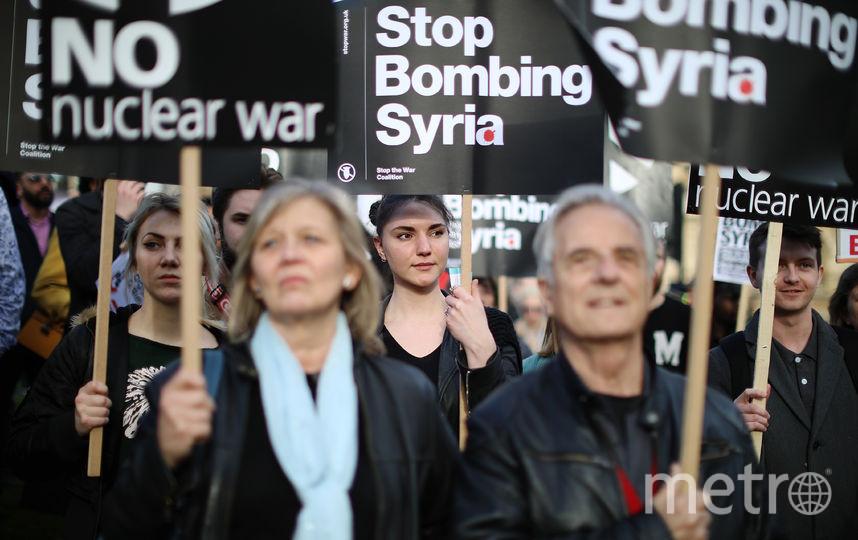 14 апреля США, Франция и Великобритания выпустили 103 ракеты по сирийским правительственным объектам. Фото Getty