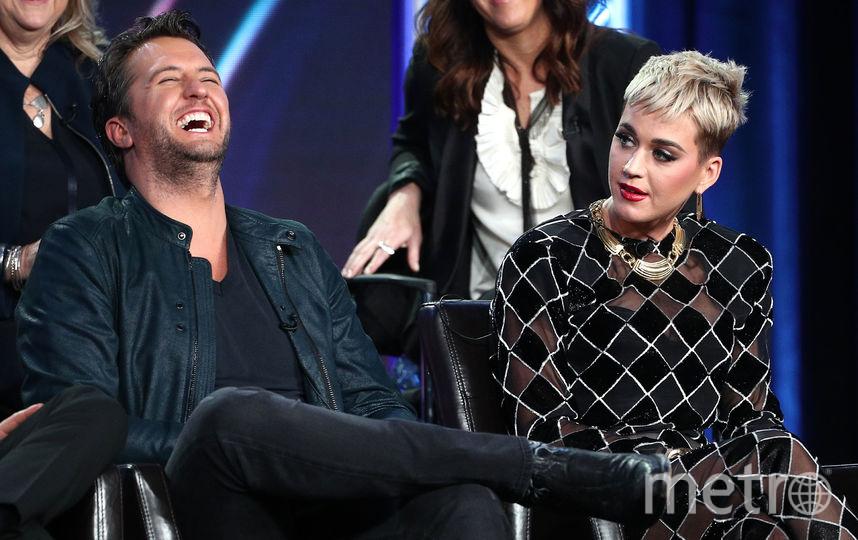Люк Брайан и Кэти Перри в эфире American Idol. Фото Getty