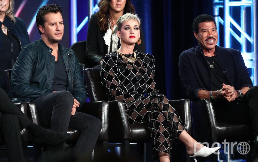 Люк Брайан, Кэти Перри и Лайонел Ричи в эфире American Idol. Фото Getty