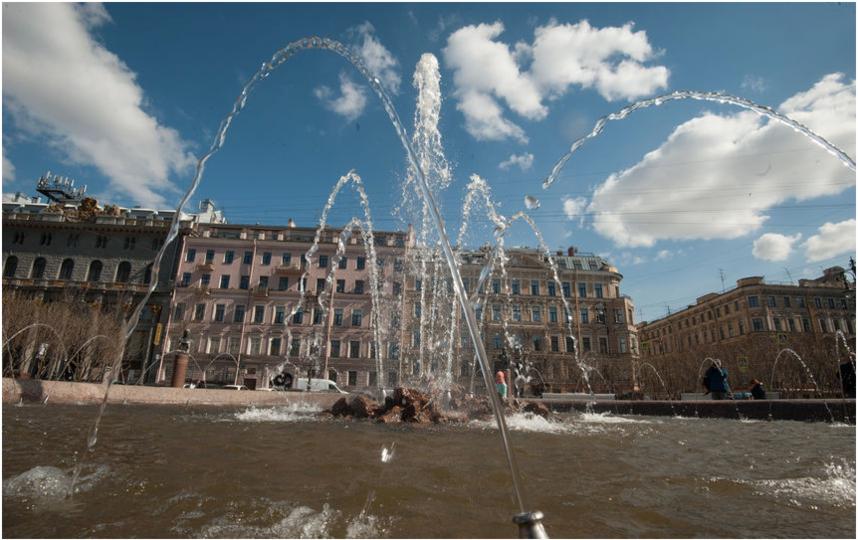 Петербургские фонтаны начнут включать с19апреля