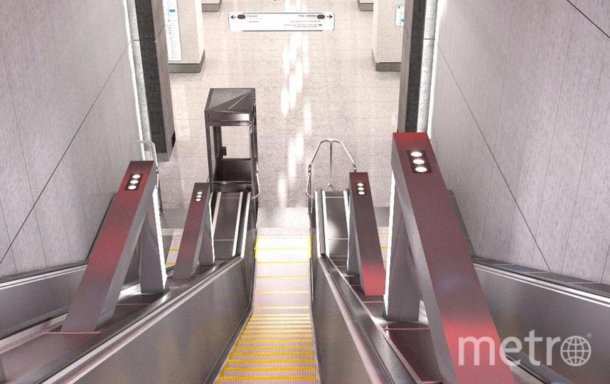 Пространство станции и эскалаторный спуск будут оформлены в стиле брутализм. Фото mos.ru