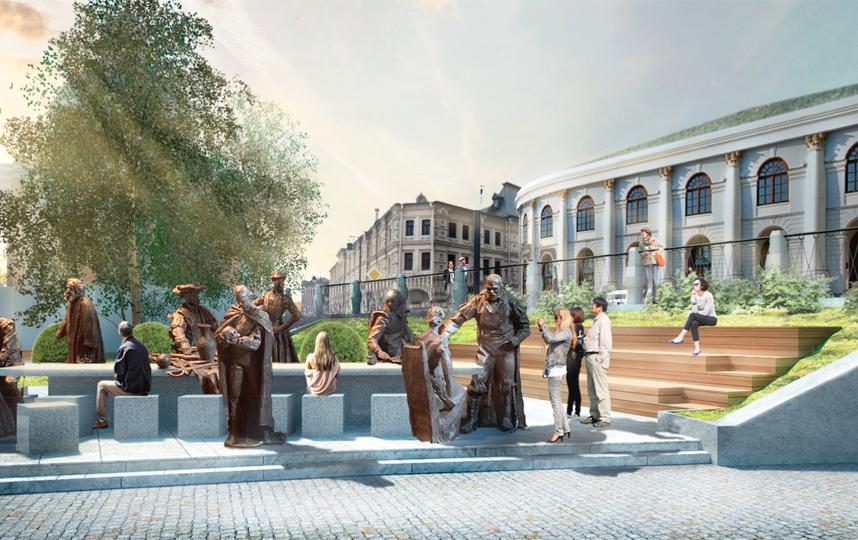 Прохожие смогут сесть за один стол с персонажами Шекспира и, например, поиграть в настольные игры или перекусить. Фото предоставлено пресс-службой Музея Москвы