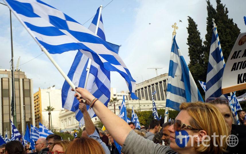 Митинг в Греции. Фото Getty
