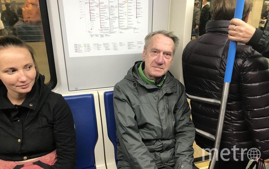 """Пенсионер Николай с радостью присел на освободившееся место. Фото Мария Беленькая., """"Metro"""""""