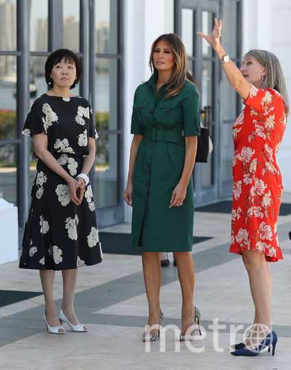 Мелания Трамп с женой премьер-министра Японии Аки Абэ. Фото Getty