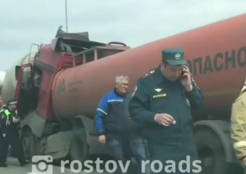 Крупное ДТП в Ростове: есть погибший. Фото Скриншот www.instagram.com/rostov_roads/