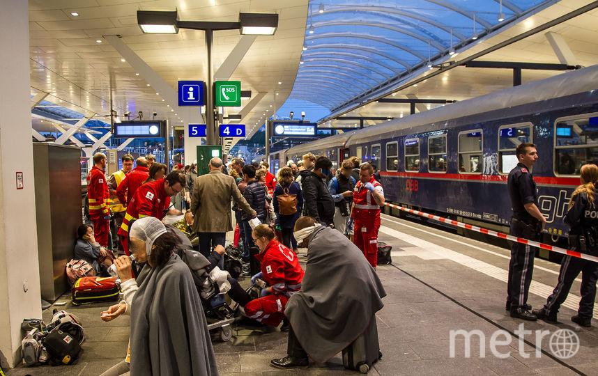 Столкновение поездов произошло в Зальцбурге. Фото AFP