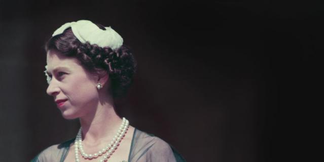 Королева Елизавета II в молодости.