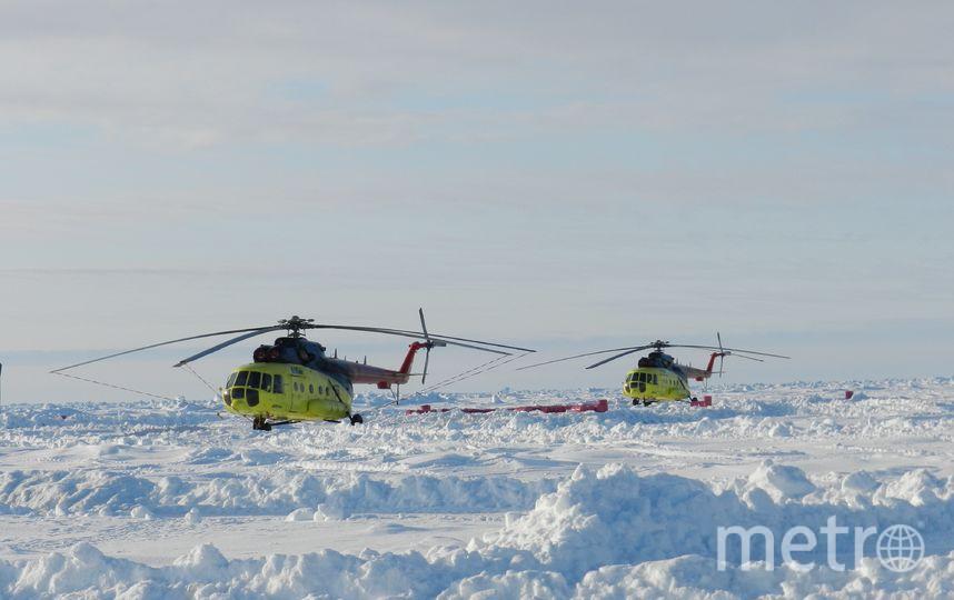 """На """"Барнео"""" базируются два вертолёта Ми-8. Фото Виктор Олейник, """"Metro"""""""