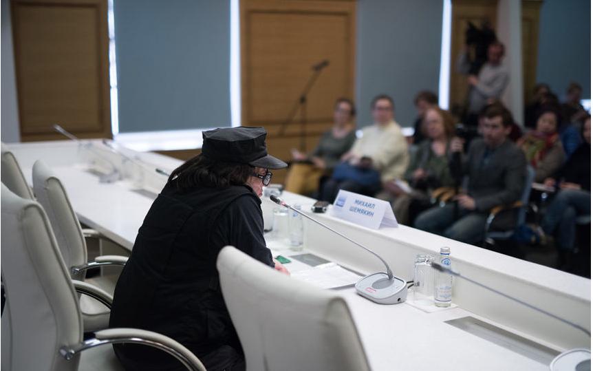 """На пресс-конференции перед открытием выставки. Фото Святослав Акимов, """"Metro"""""""