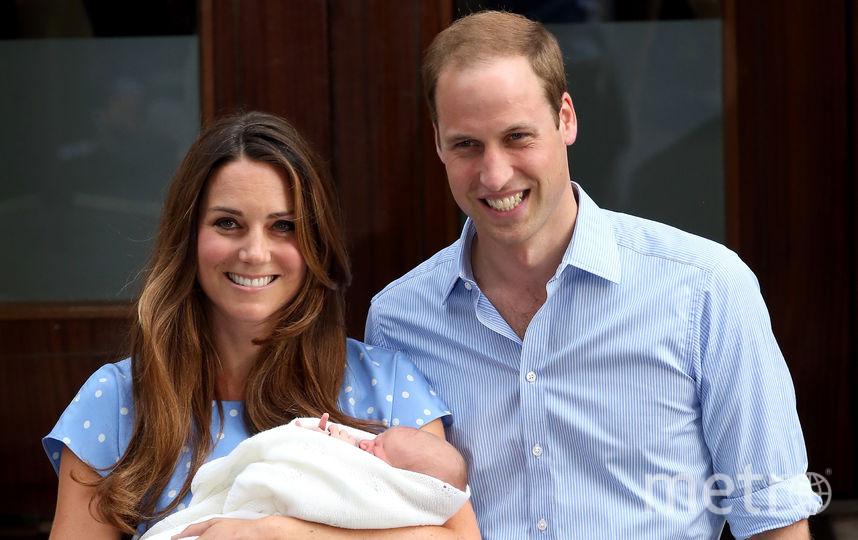 Кейт Миддлтон и принц Уильям после рождения принца Джорджа, 2013 год. Фото Getty