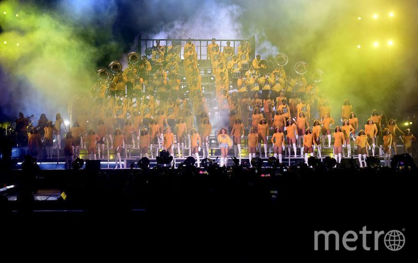 Выступление Бейонсе на фестивале Coachella в Индио. Фото Getty