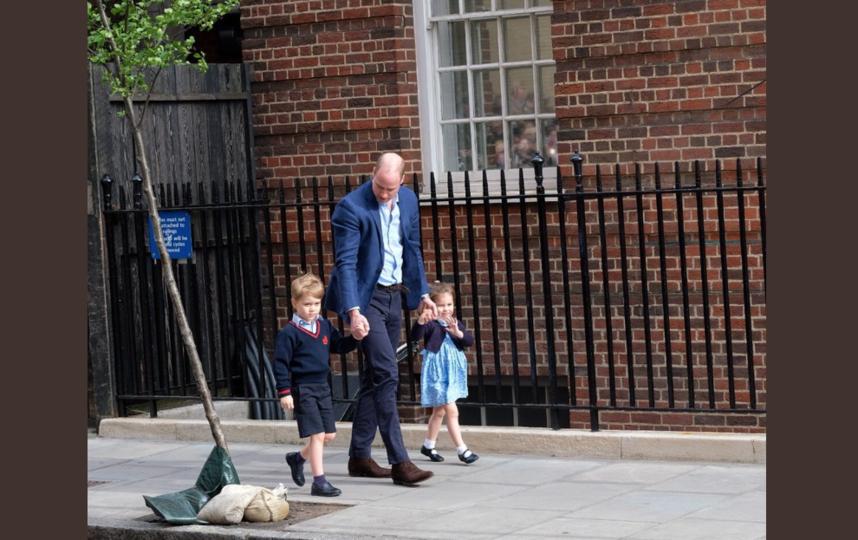 Принц Уильям с детьми. Фото twitter.com/kensingtonroyal