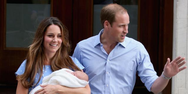 После рождения принца Джорджа в 2013-м году.