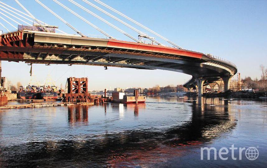 Мост Бетанкура откроют в первой половине мая. Фото Александр Чиженок, Интерпресс