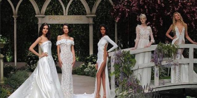 Платья невест показали на Barcelona Bridal Week 2018.