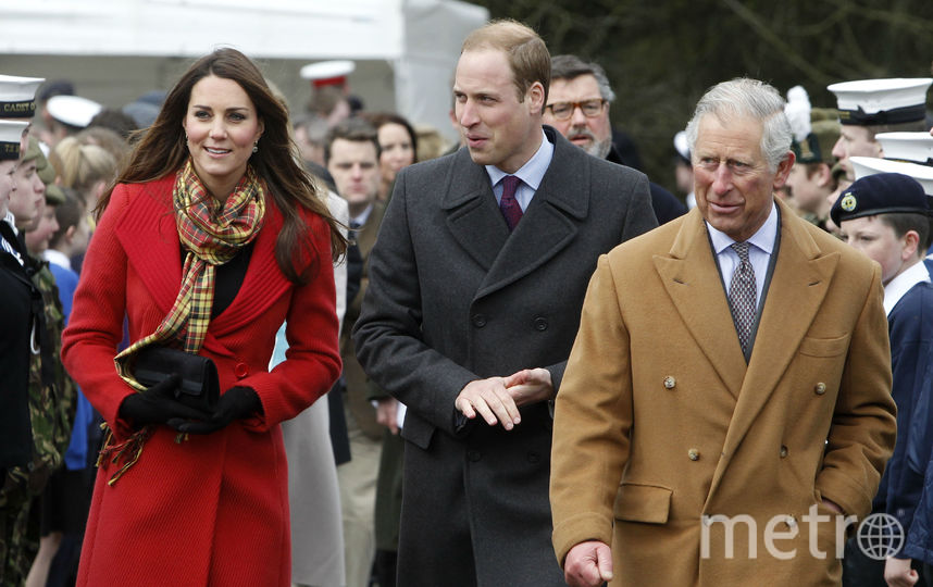 Принц Чарльз, Кэтрин и принц Уильям, архив. Фото Getty