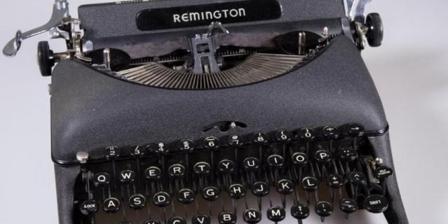 Печатные машинки стали экспонатами. REMINGTON.