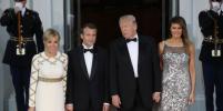 Мелания Трамп и Брижит Макрон блеснули нарядами в Белом доме: фото