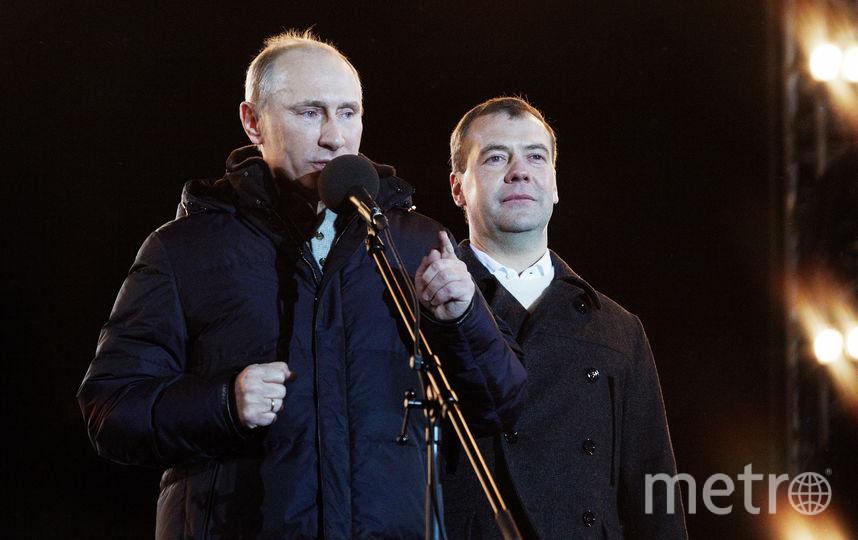 Владимир Путин и Дмитрий Медведев. Фото Getty
