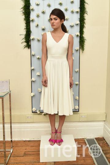 Сара Джессика Паркер представила коллекцию свадебных платьев. Фото AFP
