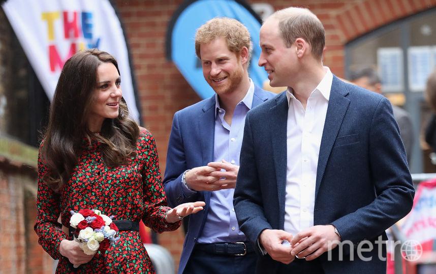 Кейт Миддлтон, принц Уильям и принц Гарри. Фото Getty
