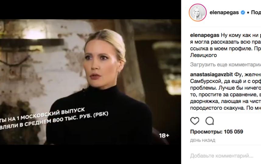 Елена Летучая, фотоархив. Фото Скриншот @instagram.com/elenapegas/