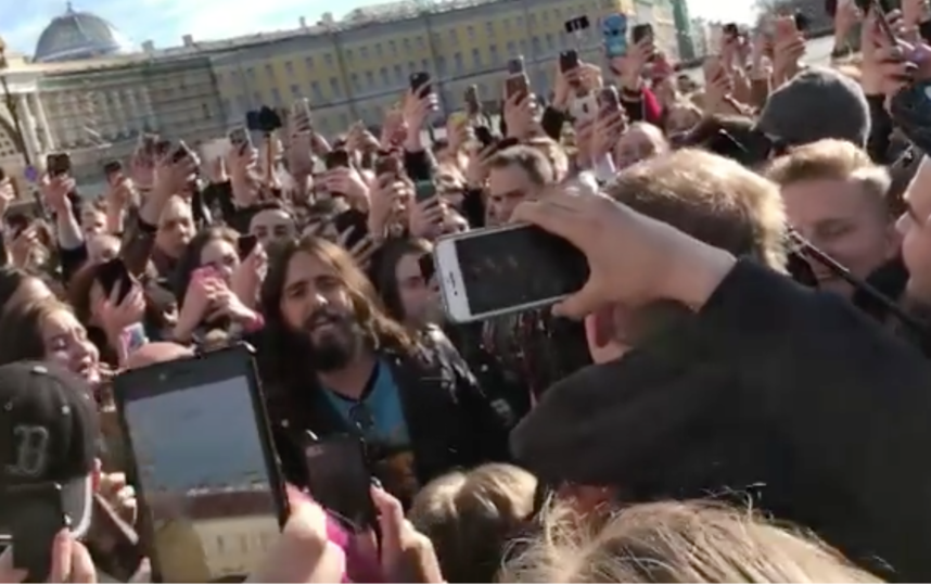 Джаред Лето в Петербурге. Фото instagram.com/tmedvedeva